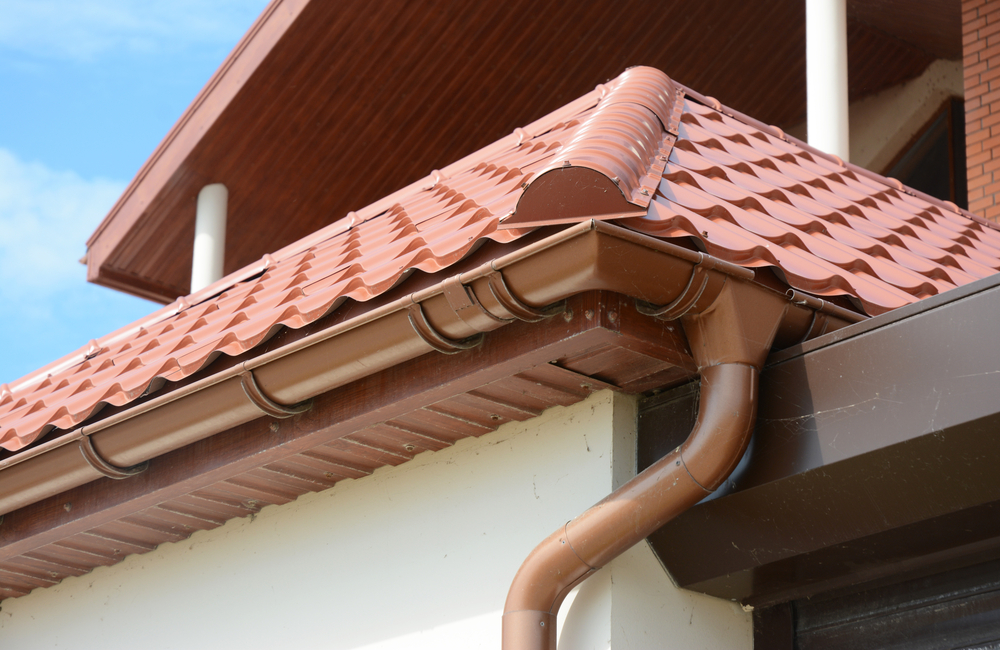 Image of installed gutters to advertise our exterior services